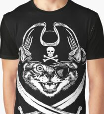Jolly Roger Kitty Graphic T-Shirt