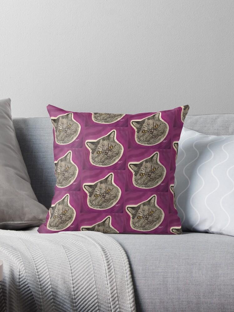Blue the Persian Cat Repeat by artsybarncat