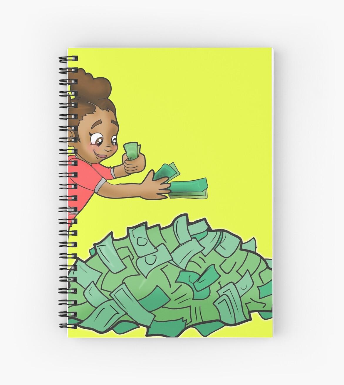 Cuadernos de espiral «Black Girl Boss - Niña Mia contando dinero ...
