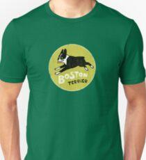 Vintage Style Boston Terrier Unisex T-Shirt