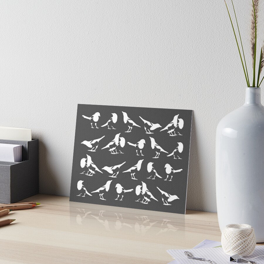 Magpies on Graphite by thistleandspade