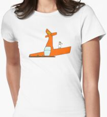 """""""The Ground Was Harder Than I Thought"""" Women's Fitted T-Shirt"""