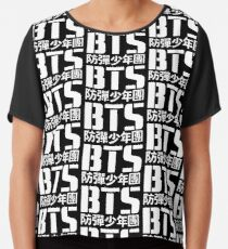 BTS Bangtan Boys Logo/Text 2 Chiffon Top