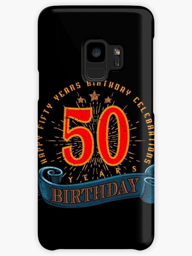 Fundas y vinilos para Samsung Galaxy «50a feliz cumpleaños» de ...