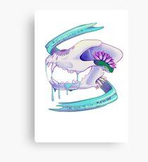 Drooling Skull Canvas Print