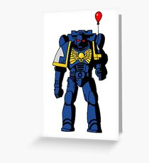 Warhammer on a Balloon Greeting Card