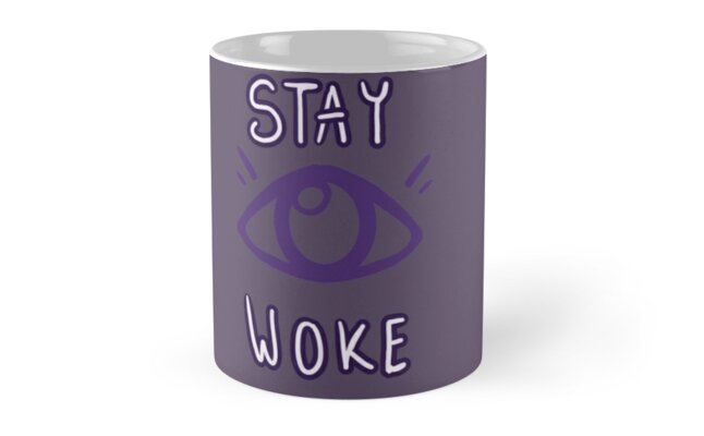 "Ms. Izumi's ""Stay Woke"" Psychic Type Mug Design by BesaTheSheep"