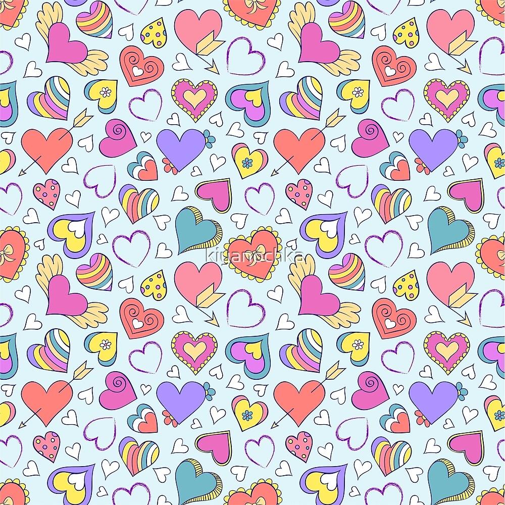 colorful hearts by kiyanochka