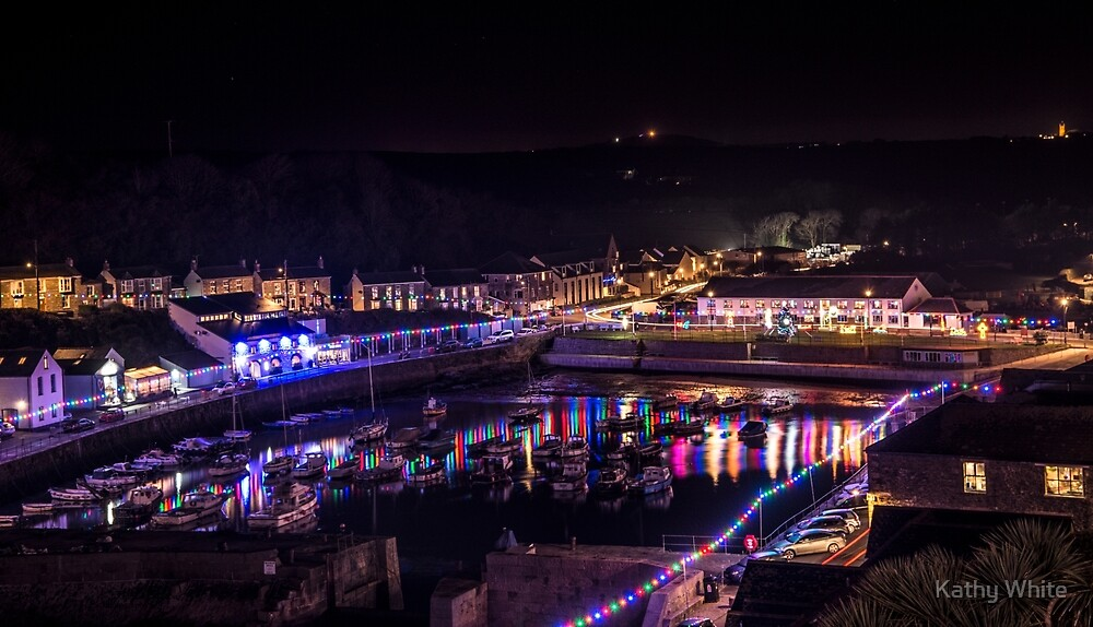 Porthleven Cornwall Lights by kathleenjean
