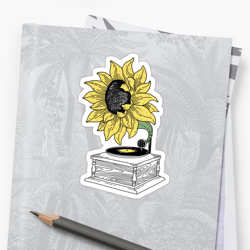Singing in the sun Sticker Front