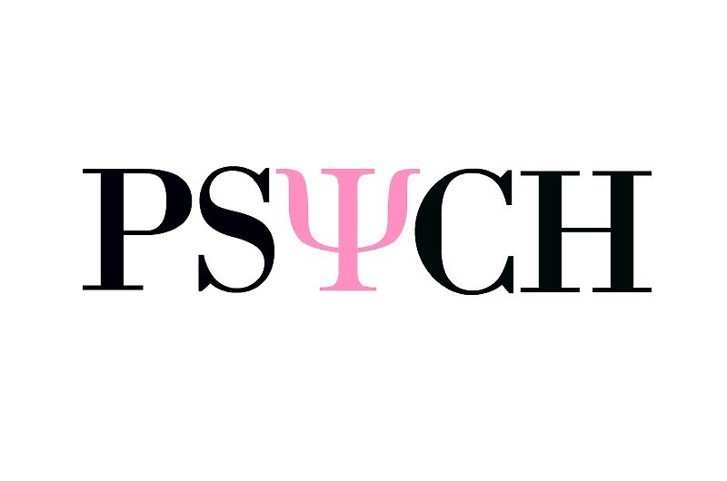 Pink and Black Psych Symbol Sticker by Maddy Sylvester