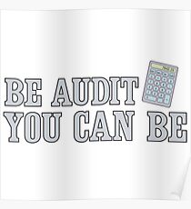 Be Audit You Can Be Funny Accounting Shirts Poster