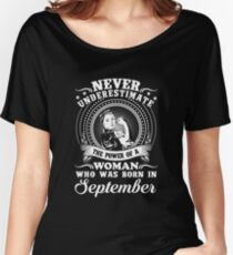 The power of a woman who was born in september T-shirt Women's Relaxed Fit T-Shirt