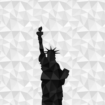 Black on white geometric Statue of Liberty by NYStateofMind
