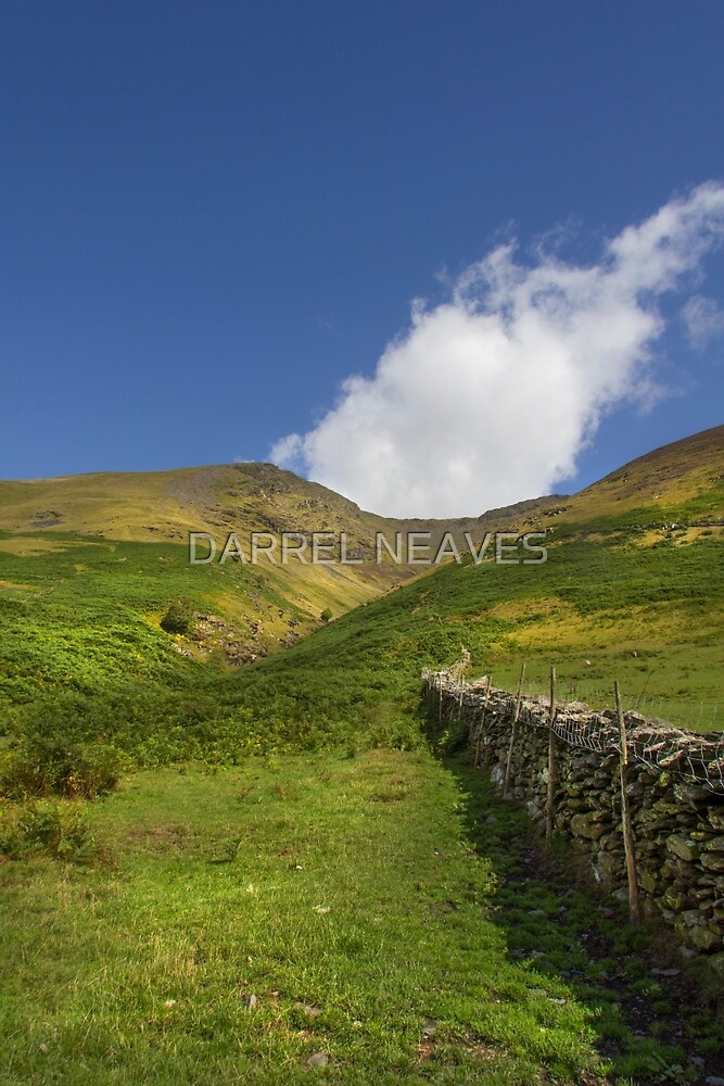 Blencathra - start of climb  by DARREL NEAVES