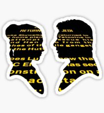 Han and Leia - Return Sticker