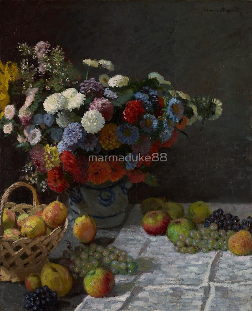 Still Life with Flowers and Fruit by marmaduke88