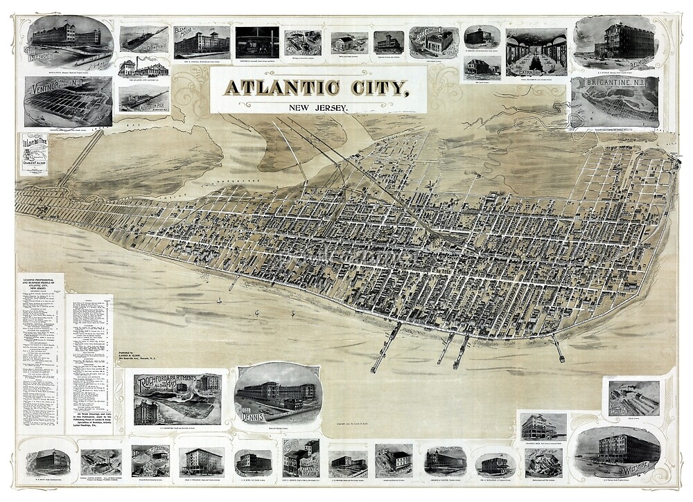 Atlantic City - New Jersey - 1900 by paulrommer
