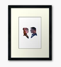 Han and Leia - Galaxy Framed Print