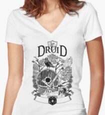 RPG Class Series: Druid - Black Version Women's Fitted V-Neck T-Shirt