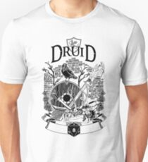 RPG Class Series: Druid - Black Version T-Shirt