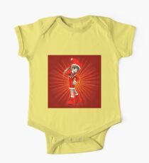 Girl in Christmas dress 2 One Piece - Short Sleeve