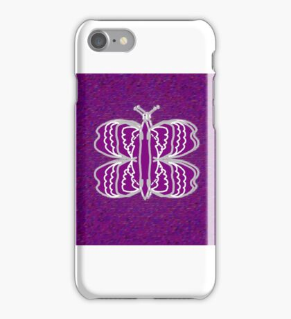 Purple Flutterby iPhone Case/Skin