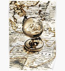 Old fashioned globe Poster