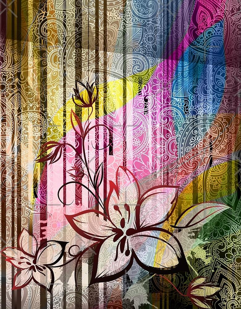 Paisleys floral by talipmemis