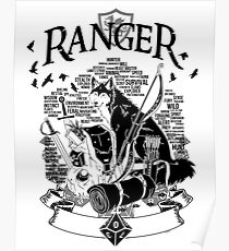 RPG Class Series: Ranger - Black Version Poster