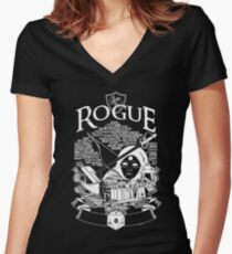 RPG Class Series: Rogue - White Version Women's Fitted V-Neck T-Shirt