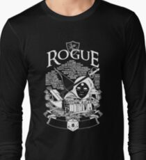 RPG Class Series: Rogue - White Version Long Sleeve T-Shirt
