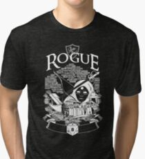 RPG Class Series: Rogue - White Version Tri-blend T-Shirt