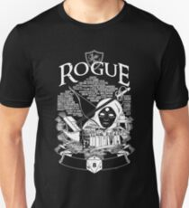 RPG Class Series: Rogue - White Version Unisex T-Shirt