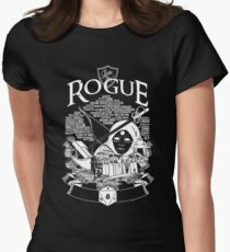 RPG Class Series: Rogue - White Version Womens Fitted T-Shirt