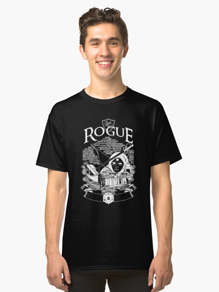 RPG Class Series: Rogue - White Version Classic T-Shirt Front