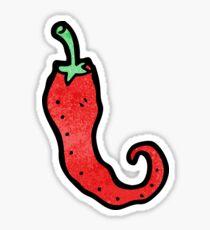 cartoon chili pepper Sticker
