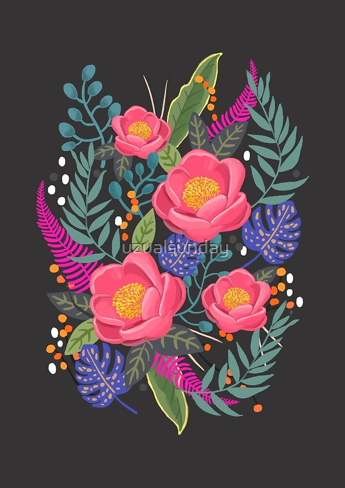 Night Blossom art print by uzualsunday