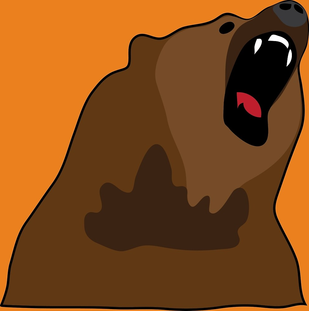 Growling Grizzly Bear by grizzlygifts