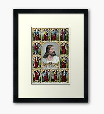 Jesus and the twelve apostles - 1847 - Currier & Ives Framed Print