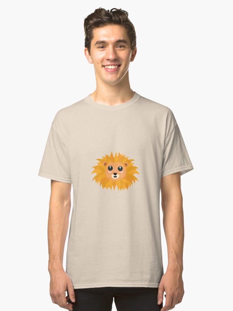 Kawaii lion head Classic T-Shirt Front