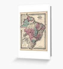 Colton's Brazil with Guayana - 1871 Greeting Card