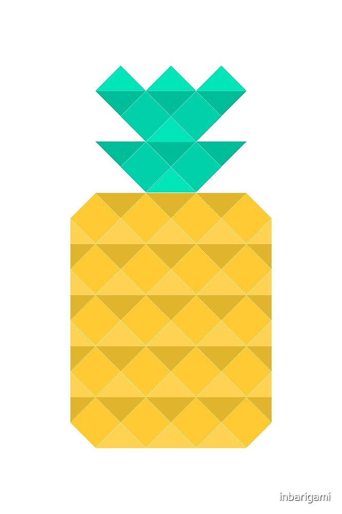 Polygon Pineapple by inbarigami