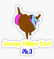 jeremy hillary boob Sticker