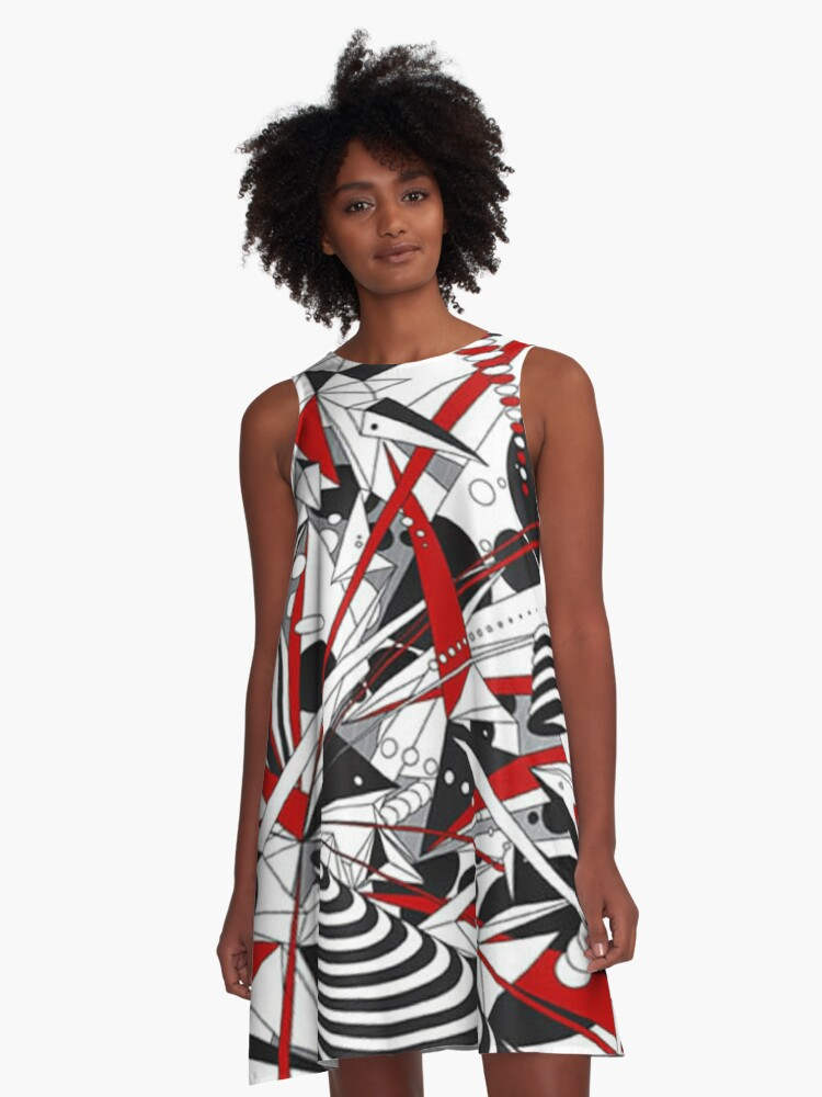 One Point A-Line Dress Front