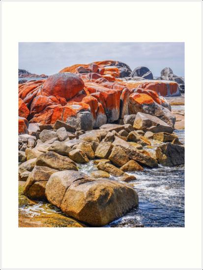 Lichen Rocks - Bay of Fires, Tasmania by Lexa Harpell
