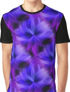 Purple and Blue Petals Abstract Graphic T-Shirt