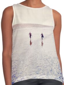 Surfers in the snow. Contrast Tank