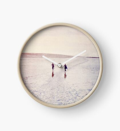 Surfers in the snow. Horloge