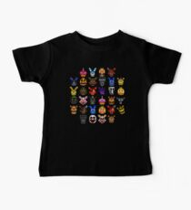 NEW - FNAF Multiple Animatronics - (Dec 2016) - Pixel art Baby Tee